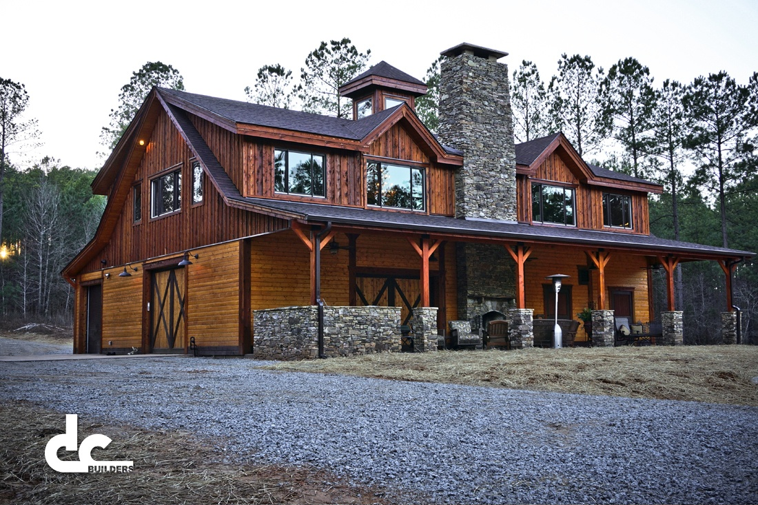 This stunning barn home in Newnan, Georgia was custom designed and built by DC Builders.