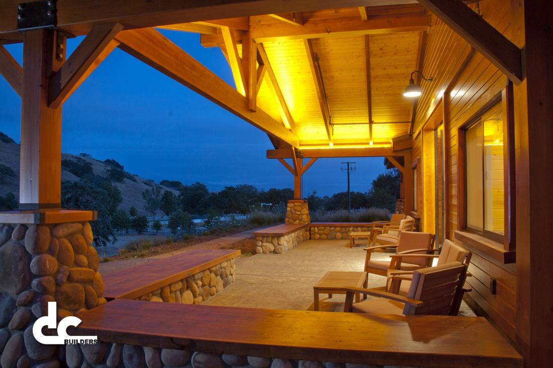 This luxury horse barn was custom built by DC Builders in Santa Ynez, California.