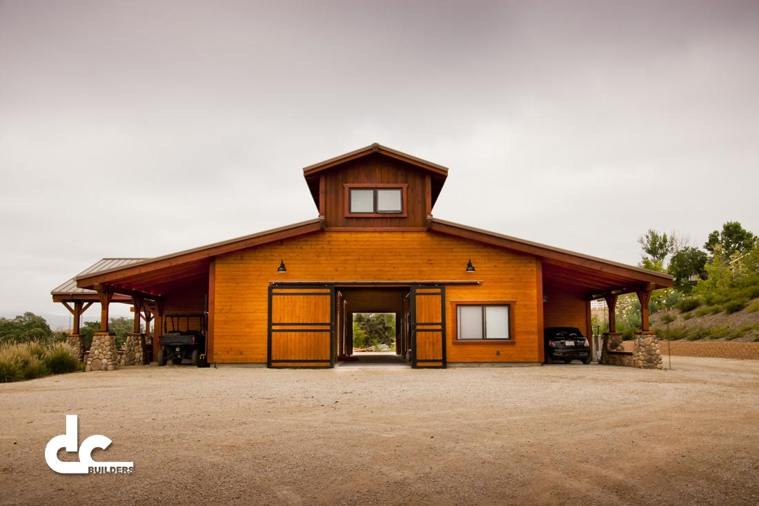Santa ynez horse barn dc builders for Luxury barn builders