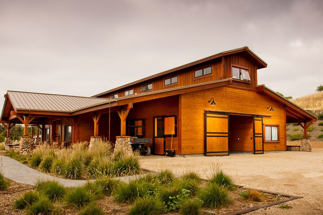 This custom monitor style barn was built in Santa Ynez, California by DC Builders.