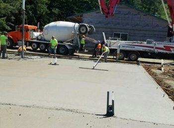 DC Builders specializes in slab concrete construction.