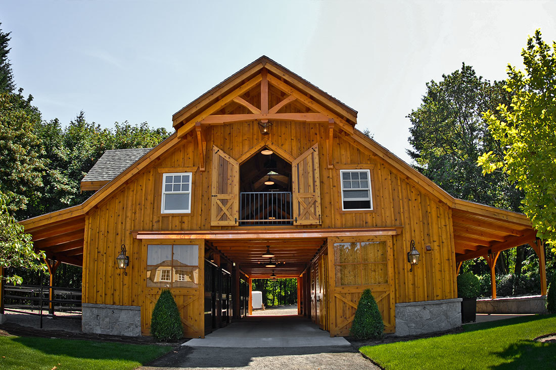 This apartment barn in West Linn, Oregon was designed and built by DC Builders.