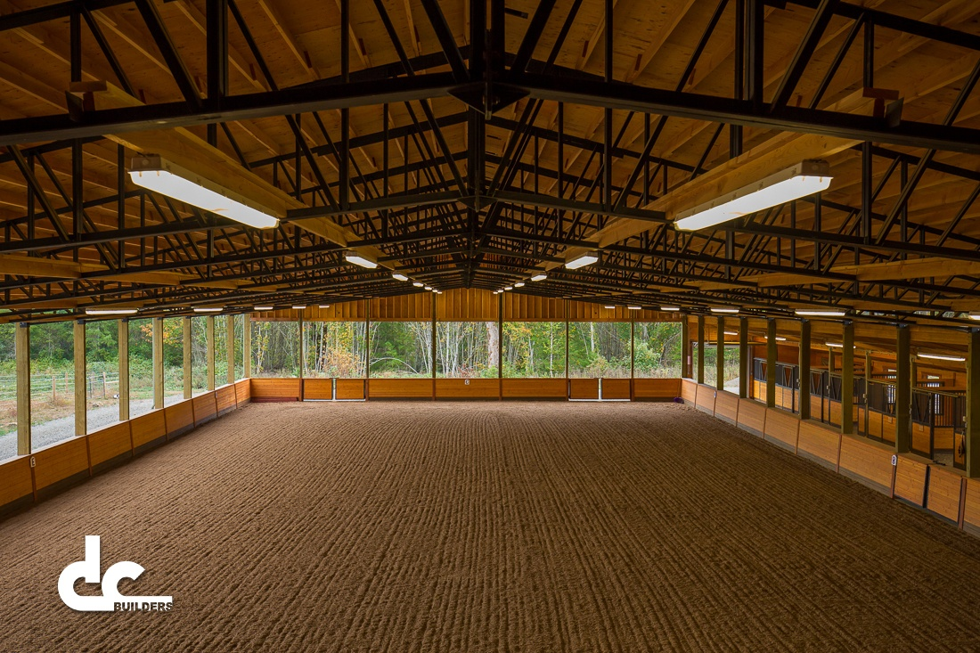 This custom riding area from DC builders has all the space you could ever need,