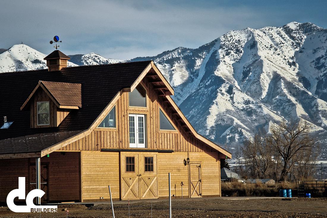 This custom designed barn was built by DC Builders in Spanish Fork, Utah.