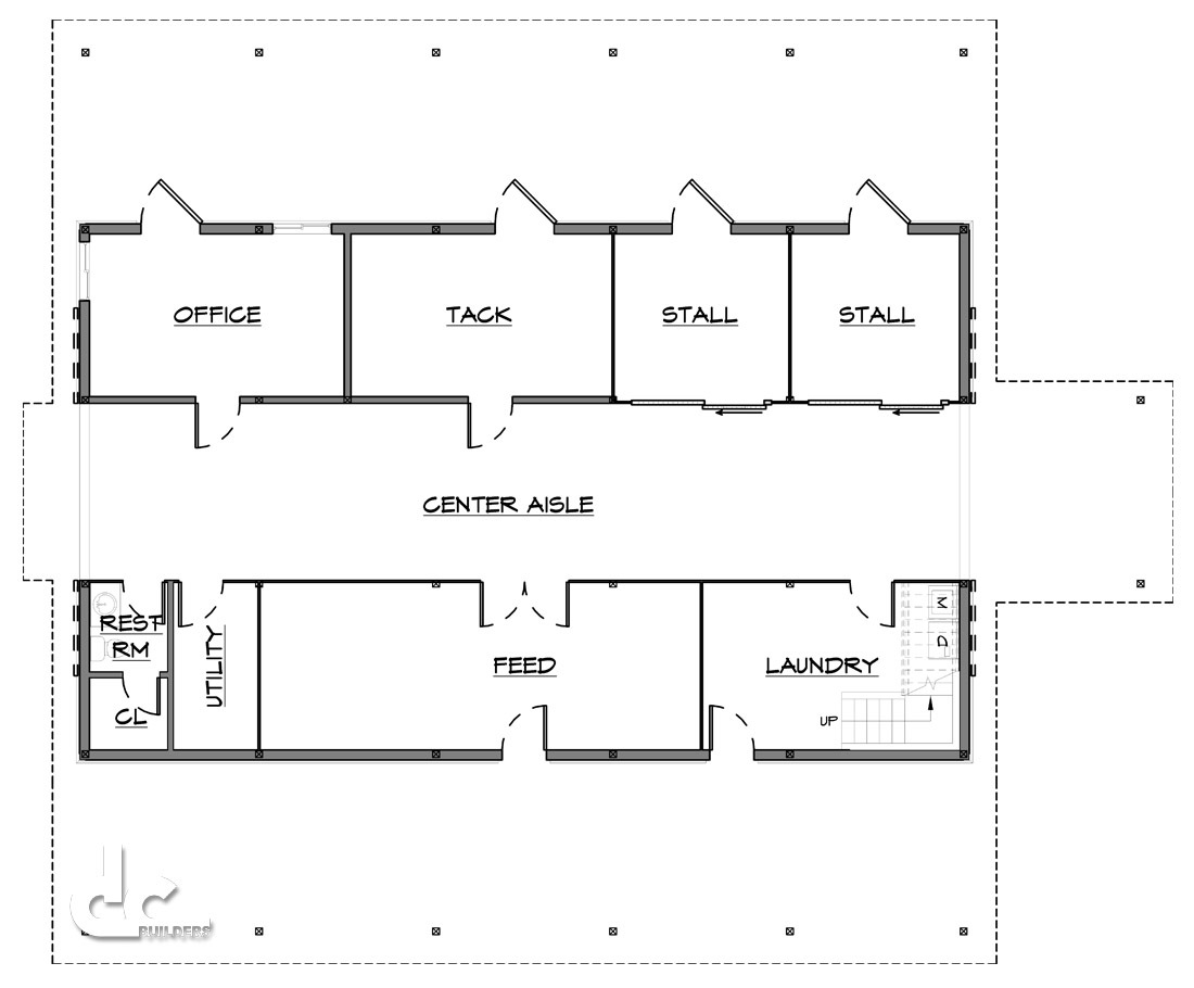 Horse Barn Plans And Design DC Builders - Barn home plans blueprints