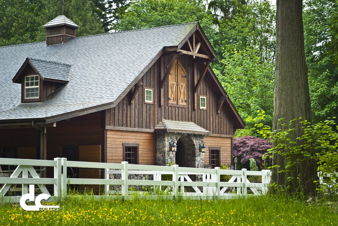 Bothell horse barn project dc builders for Custom barn homes
