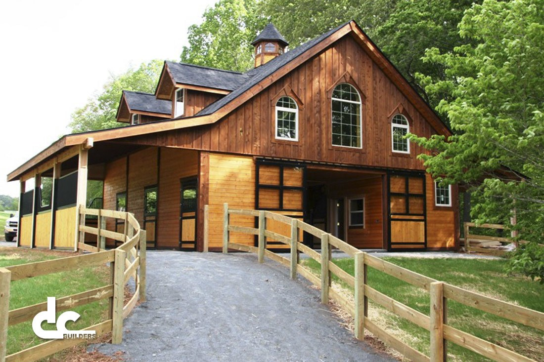 Raleigh house barn project dc builders for Equestrian barn plans