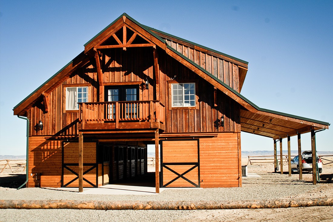 This custom barn home was built by DC Builders in Laramie, Wyoming.