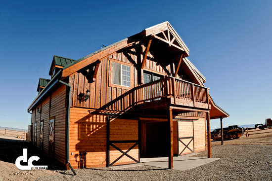This all-wood apartment barn is tough enough to withstand the harsh winter months.